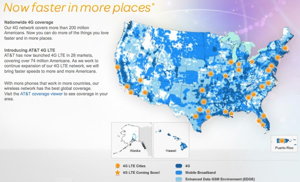 AT&T 4G LTE coverage expansion