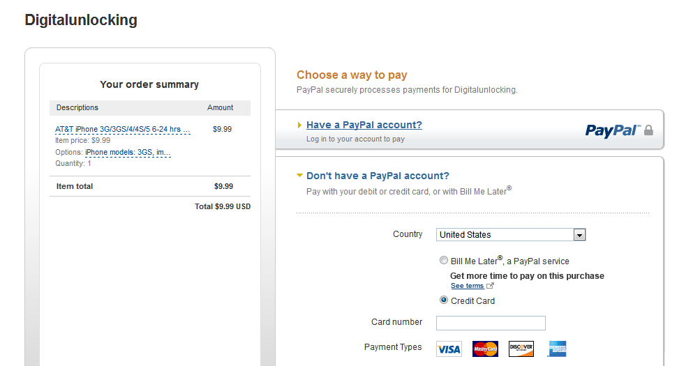dont have paypal