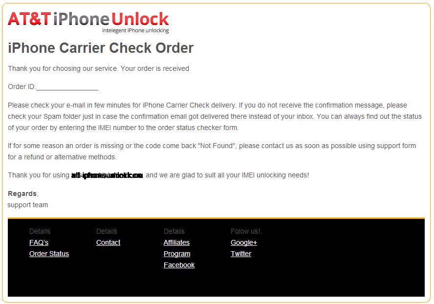 ATT Carrier Check