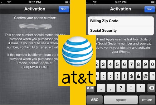 activate iphone without ssn zip code