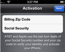 iphone ssn zip code