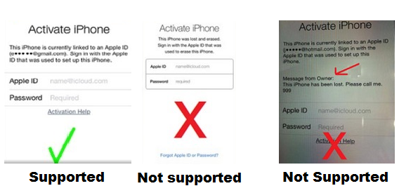 icloud activation remove