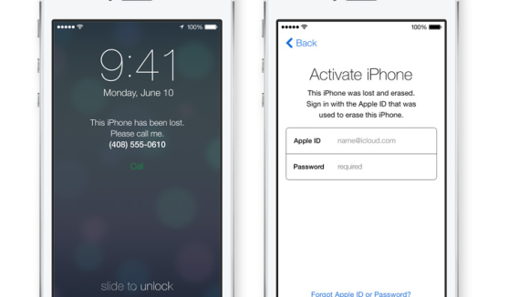 ios 7 activation lock