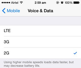 iphone switching between 3g and lte