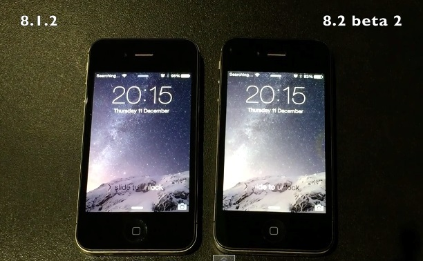 iPhone 4S Runs On iOS 8.1.2 VS iOS 8.2 Beta Speed Test