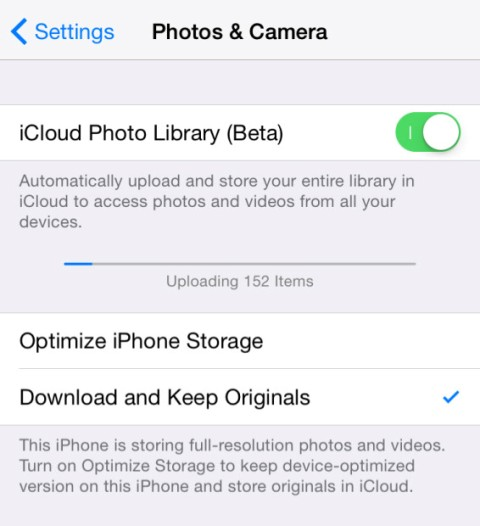 icloud photo library features