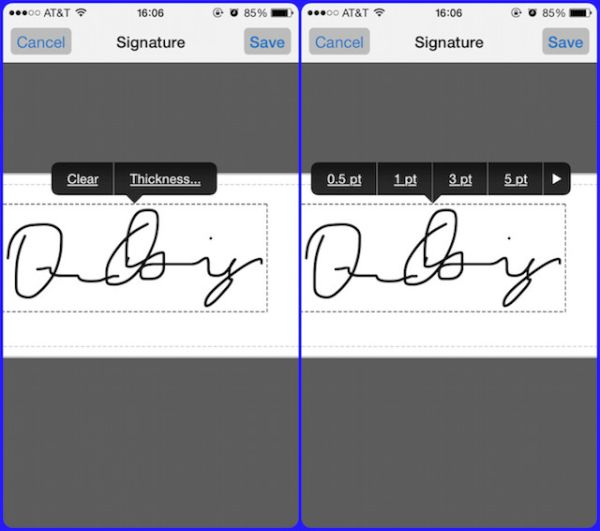 iPhone Sign Up Documents