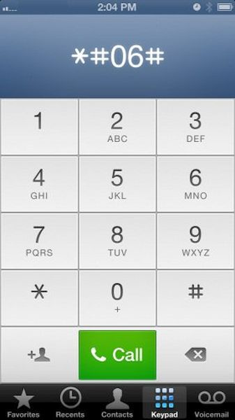 iPhone IMEI Dial Secret Code