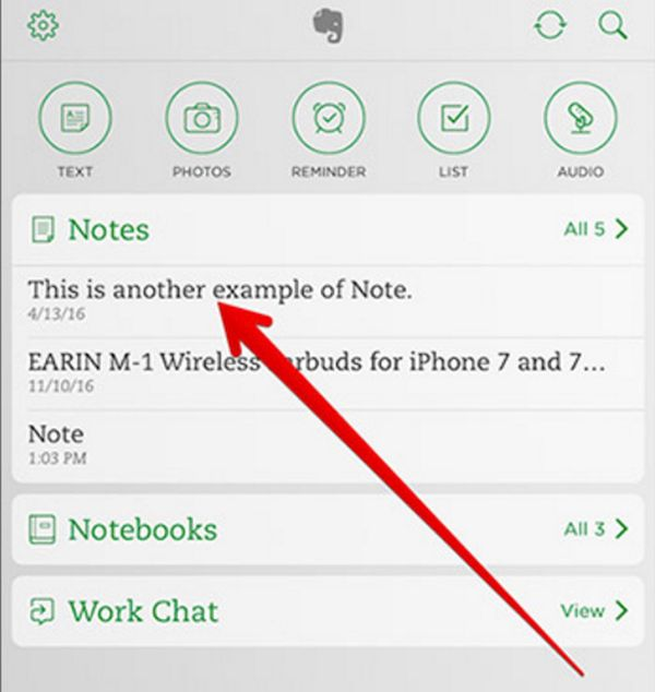 Evernote iOS 10 iPhone App