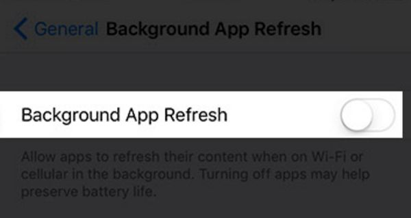 How to Disable Background App Refresh iOS 10