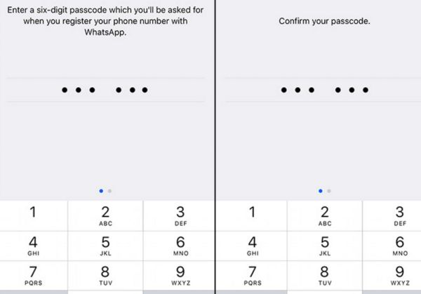 Enter passcode for two step verification on WhatsApp