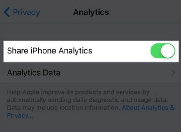 How to Share Analytics Data on iPhone with Apple or Developers