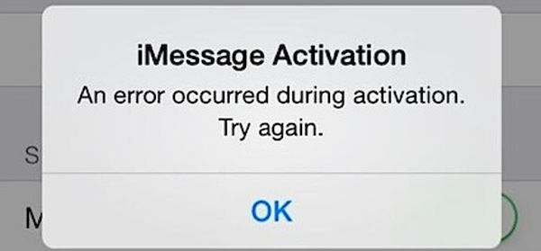 iMessage won't activate