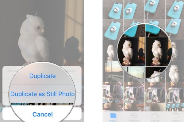 How to make live photo still on iPhone 7 iOS 10