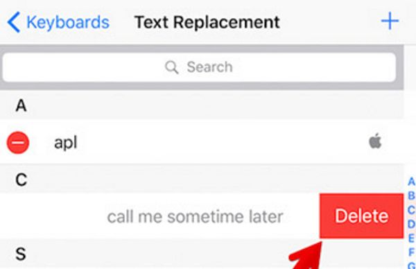 Remove Text Shortcuts on iPhone