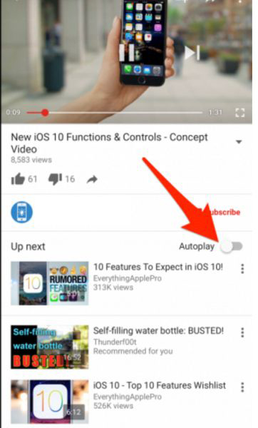 How to Disable YouTube Videos on iPhone 7