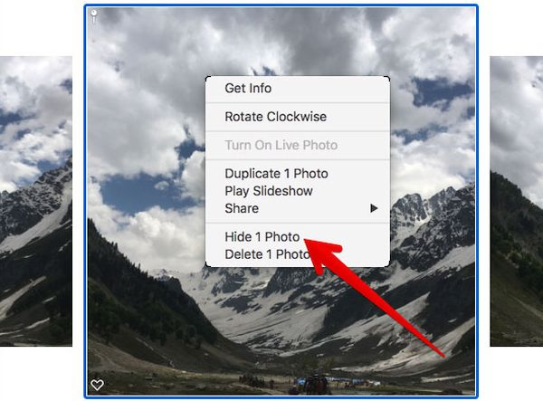 How to Hide Picture in Photos App on Mac