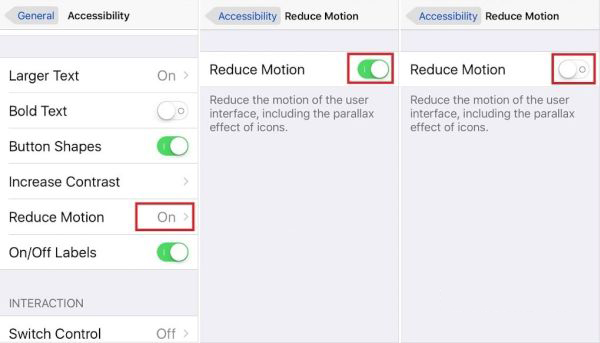 Reduce Motion iOS 10 Guide