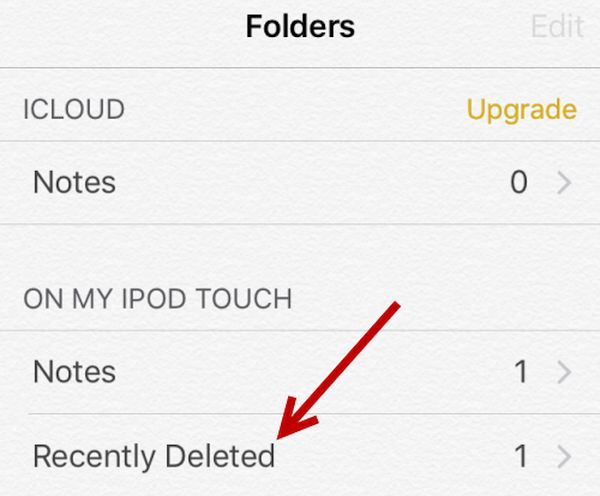 Deleted iPhone Notes Restore