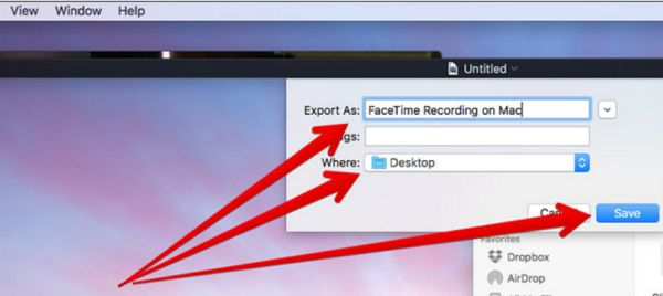 Save FaceTime Video Audio on Mac