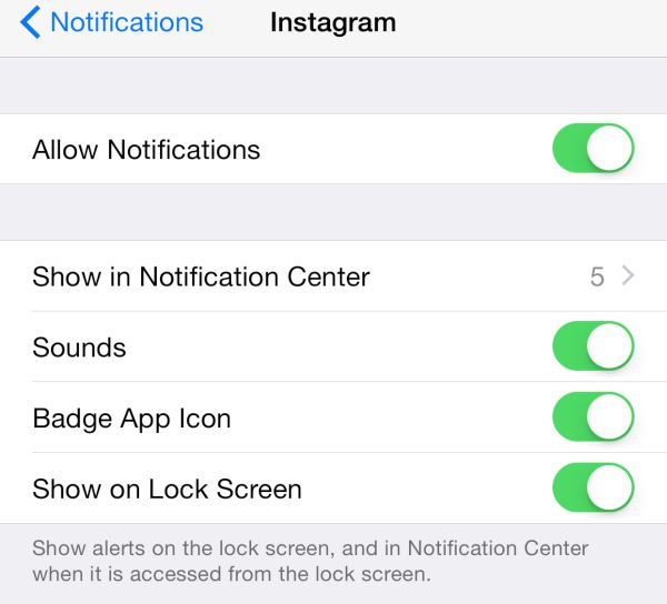 Instagram Notifications Enable iPhone