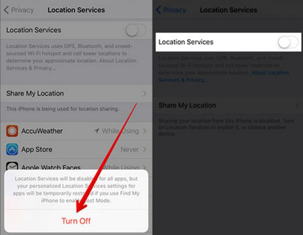 How to Turn Off Location Services
