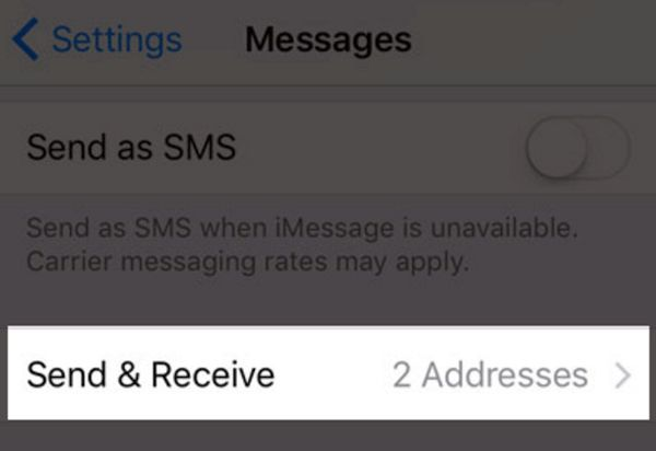 Send Receive iOS 10 messages App iPhone