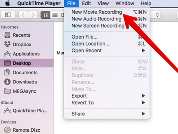 Record FaceTime Calls with QuickTime App
