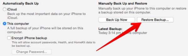 How to Restore Backup iPhone