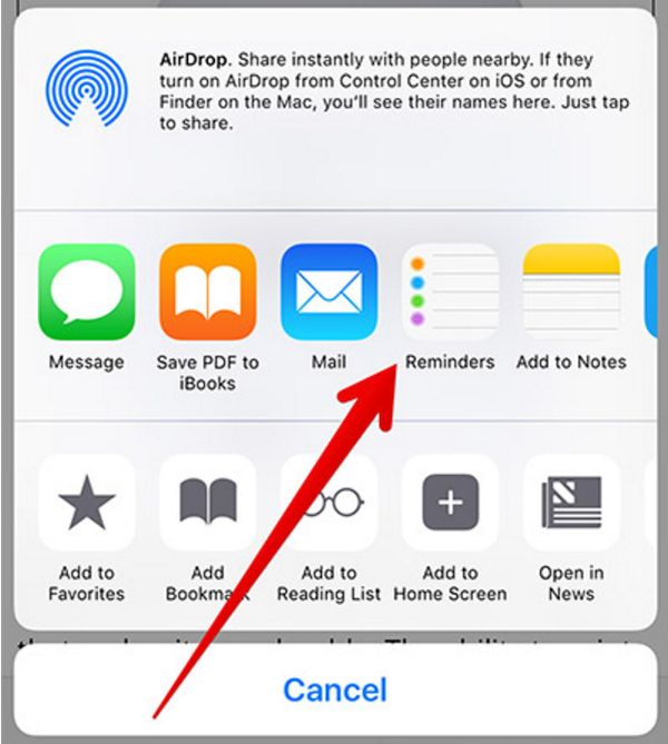 How to Rearrange Share Sheet on iOS 10 Iphone