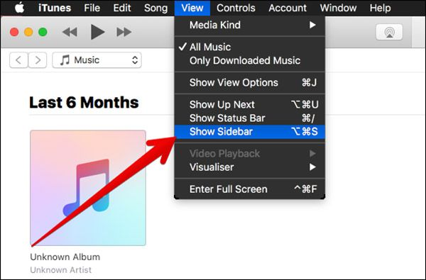 How to Show Sidebar in iTunes 12.4 Mac Windows PC