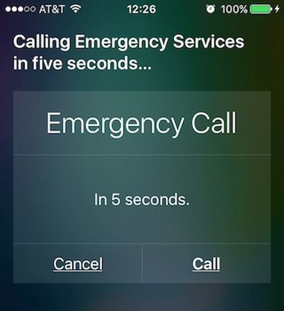Siri iPhone Emergency Call
