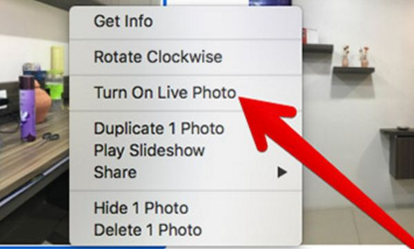 How to enable live photo feature on Mac computer