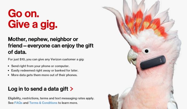 Verizon Give a Gig Option