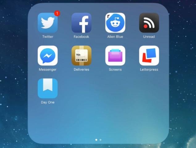 folders on ipad