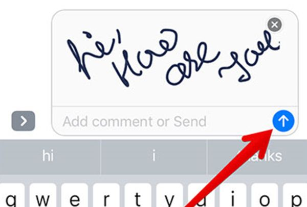 How to Send iOS 10 Handwritten Text Messages iPhone