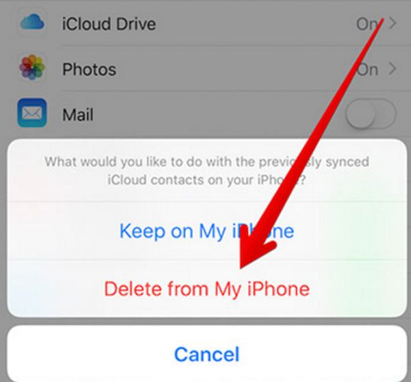 Delete from My iPhone option