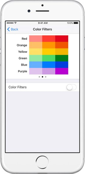 iOS 10 Color Filters