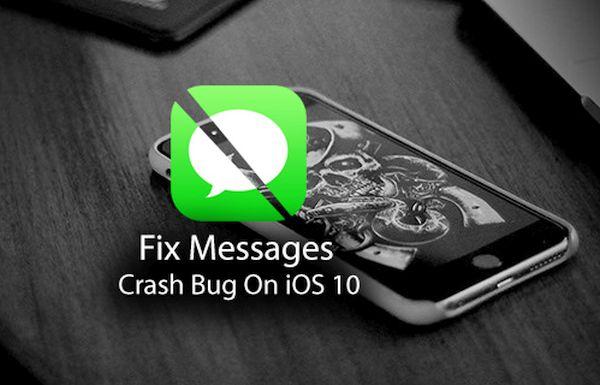 iPhone Messages Crash problem Fix