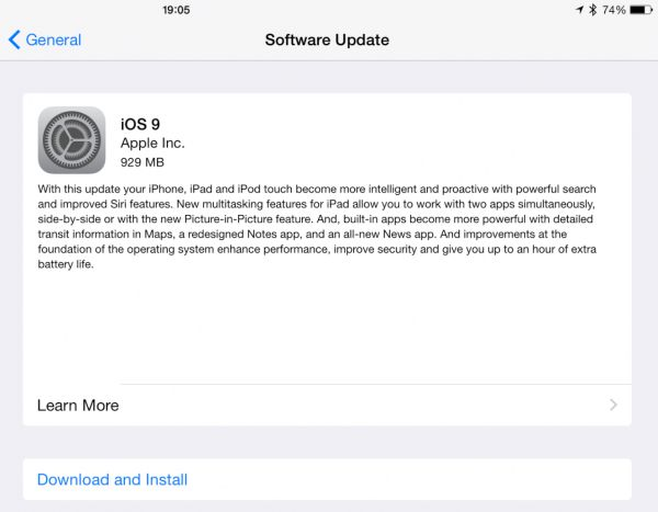 iOS 9 Update Problems Fix