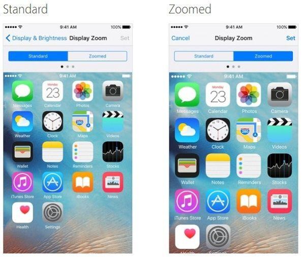 iPhone 7 Display Zoom
