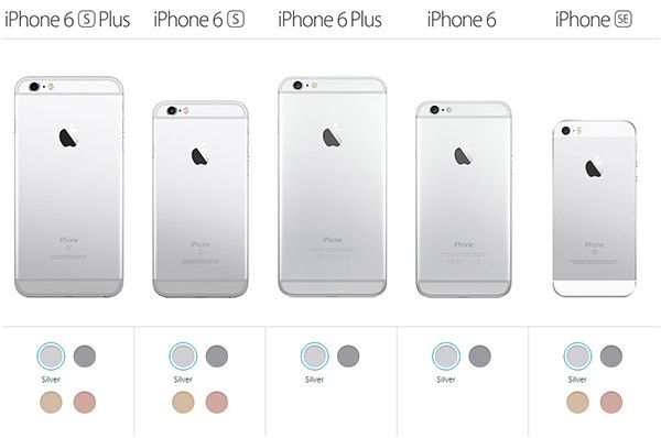 iPhone Models 2016 iPhone SE iPhone 6s
