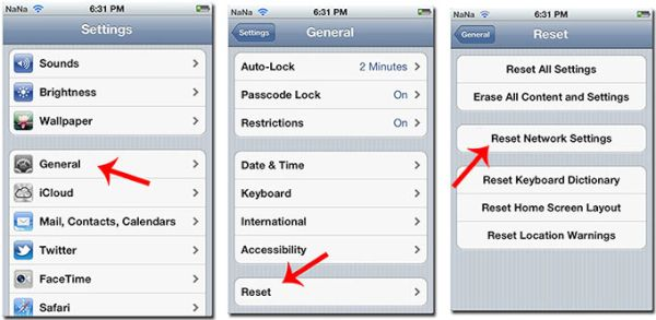 iPhone Reset Network Settings How to
