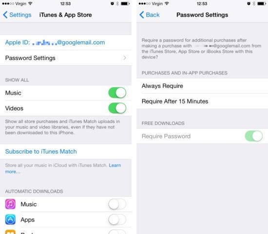 ios 8.3 app store password
