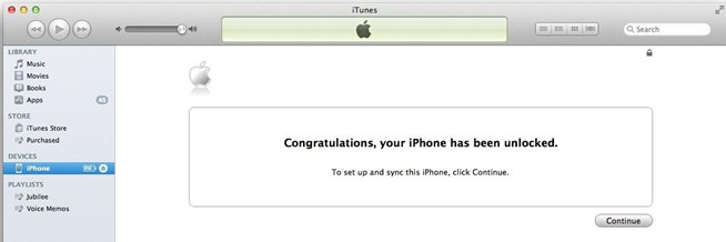 unlock iphone itunes